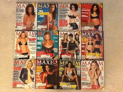 Maxim Magazines (Complete Year 2000 / 12 Issues)