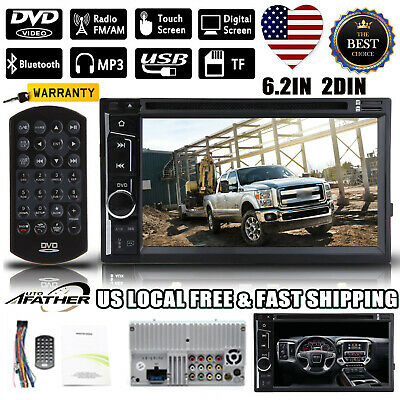"New!For Ford F-150 F-250 6.2"" 2Din Stereo Car HD DVD Radio Bluetooth TouchScreen"
