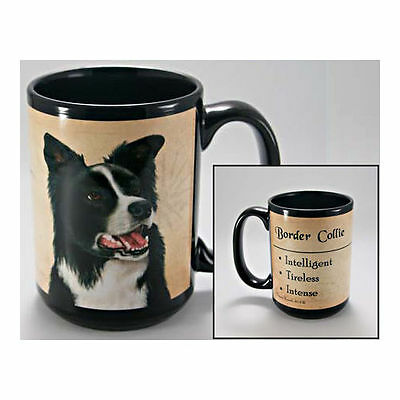 Border Collie Faithful Friends Dog Breed 15oz Coffee Mug Cup