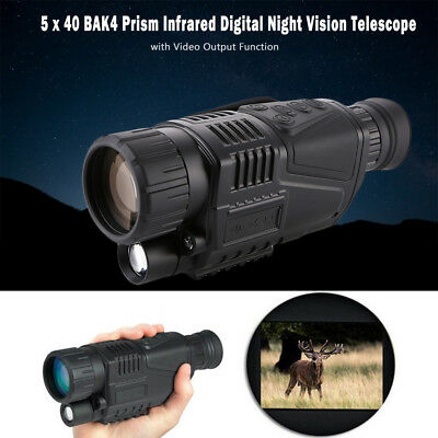 US STOCK!! 5X40 Digital Infrared Night Vision Monocular Hunting Video Telescope