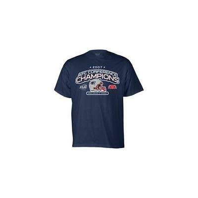 $34 Reebok New England Patriots Navy Blue 2007 AFC Conference Champions T-shirt