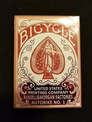 Bicycle Autobike No. 1 (RED) Playing Cards – Reprint Retro Limited Edition