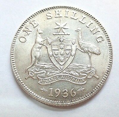 1936   Shilling Coin   -   Uncirculated