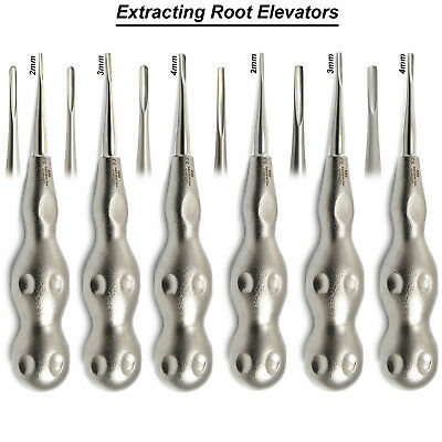 Surgical Dental Root Tip Luxating Elevators Periotomes Tooth Extraction Tools X6