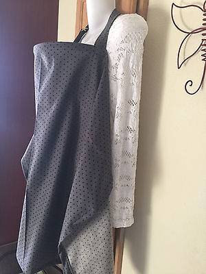 NURSING COVER hider* BREASTFEEDING COVER COOL COTTON gray dots