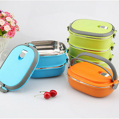 Hot Insulated Lunch Box Food Storage Container Thermo Stainless Steel Thermal AU