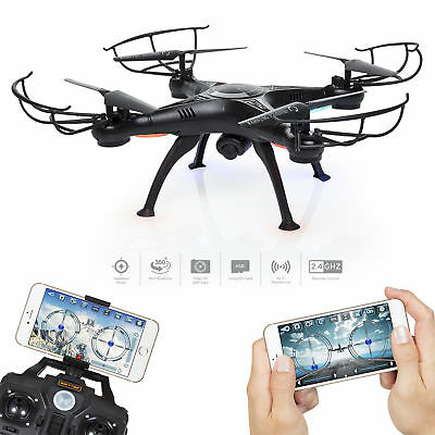 X5SW 2.4Ghz FPV 2MP WiFi 6-Axis Headless Helicopter Quadcopter RC  Camera Drone