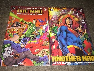 JLA Justice League Of America The Nail / Another Nail TPB Complete Alan Davis DC