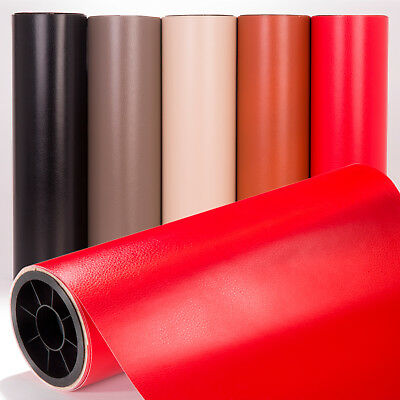 Leather Vinyl Wrap, Bubble Air Free Sticker, All sizes, Black, Grey, Red, Brown