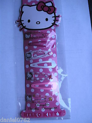 set de 7 barrettes hello kitty neuves sous blister