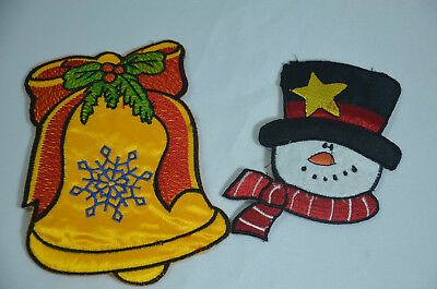 3x CHRISTMAS HOLLY Embroidered Iron Sew On Cloth Patch Badge  APPLIQUE TRIMMING