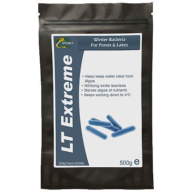 Winter Pond Bacteria Treatment HYDRA LT EXTREME 500g Sludge +Algae Remover