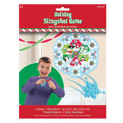 Children's Kids Christmas Xmas Sticky Snowflake Slingshot Party Game