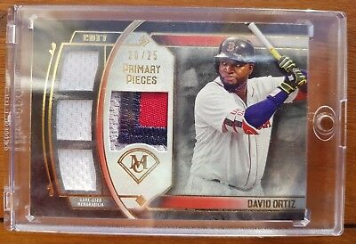 2017 Topps Museum Collection - David Ortiz Quad Relic #d 20/25 Baseball Card