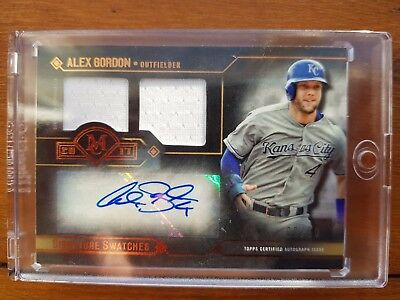 2017 Topps Museum Collection - Alex Gordon Signature Swatches #d 02/50 Autograph