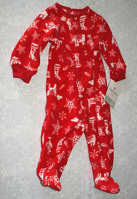 Carter's CHRISTMAS Pajamas Holiday Sleepwear RED Retail=$24.00 SIZE 6 Months New