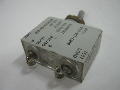 AIRPAX Sealed Hydraulic Magnetic Circuit Breaker Toggle Switch M39019/01-218