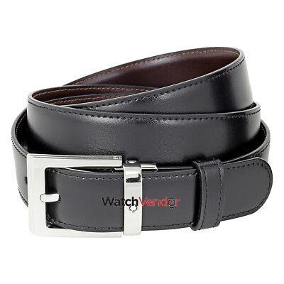 Montblanc Reversible Leather Belt - Black / Brown