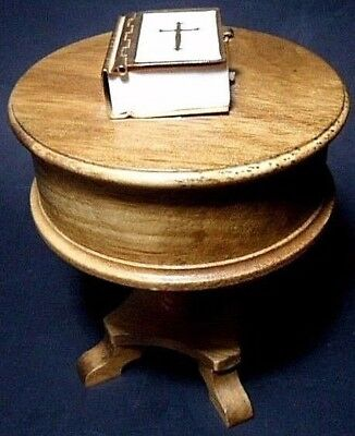 San Francisco Music Box Co Mini Real Holy Bible w/Text Wood Table Amazing Grace