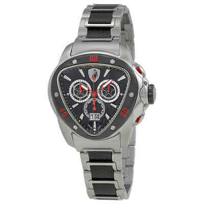 Lamborghini Spyder 1100 Chronograph Black & Slate Dial Men's Watch 1114