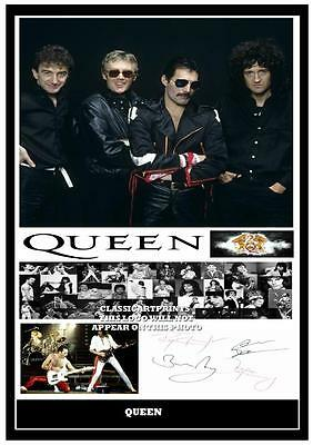 28. Queen Freddie Mercury  Signed  A4 Photograph Reprint