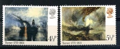 GB QEII 1975 - Part Set of 2 - PAINTINGS BY TURNER - SG 971 & 972 MNH