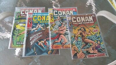Conan the Barbarian comics with #1 (Oct 1970, Marvel) set of 10