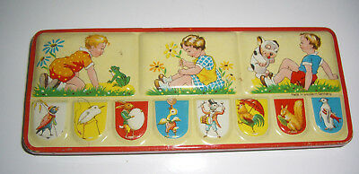 antiker Aquarell  Kinder Blech Malkasten 50er Jahre * Made in Western Germany