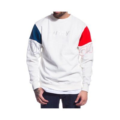 GSW264-FW17-WHT-W, Grimey Sweater – The Lucy Pearl white/blue/red, Women, 2017,
