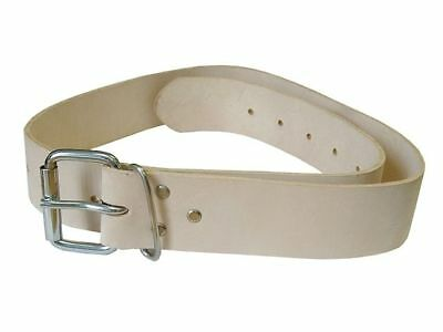 "Faithfull 45mm (1-3/4"") Width Tan Leather Work Scaffold Belt 34"" - 44"", FAILB134"