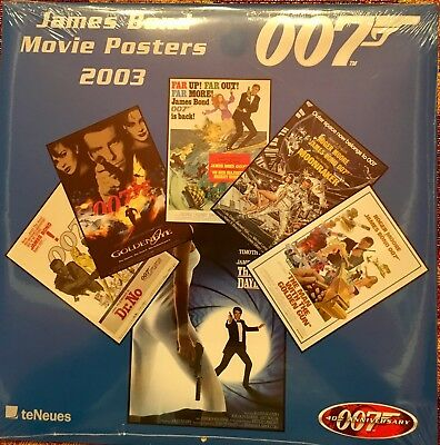 NEW 2003 James Bond Movie Posters Calendar 40th Anniversary Edition Unopeaned