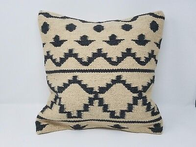 Decorative Kilim Pillow Cover / Case from up-cycled Old Vintage