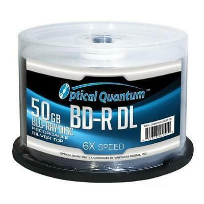 OPTICAL QUANTUM OQBDRDL06ST-50 50GB Write Once 6X BD-R DL Dual Layer Silver Top