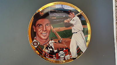 Bobby Thompson New York Giants Shot Heard 'Round the World 1994 Collectors Plate