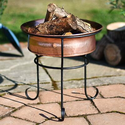 Copper Marrakech Fire Pit On Black Stand