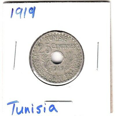 TUNISIA 1919 25 Centimes French Protectorate