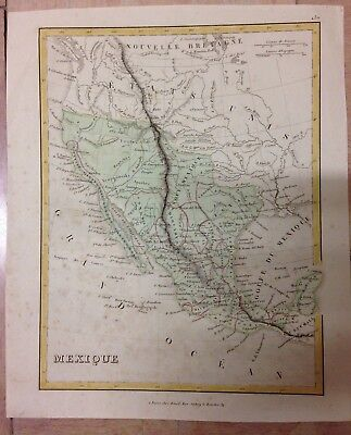 MEXICO LOWER CALIFORNIA BY BINET XIXe CENTURY ANTIQUE MAP