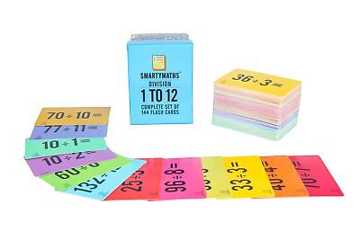 SmartyMaths Division Flash Cards Set of 144 Practice learning Educational