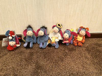 6 Eeyore Beanies - Vintage with tags still attached