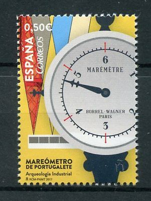 Spain 2017 MNH Portugalete Tide Gauge Industrial Archaeology 1v Set Stamps