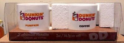 Dunkin Donuts Pumpkin And Coffee Scented Candle Glass Espresso Mug Cup