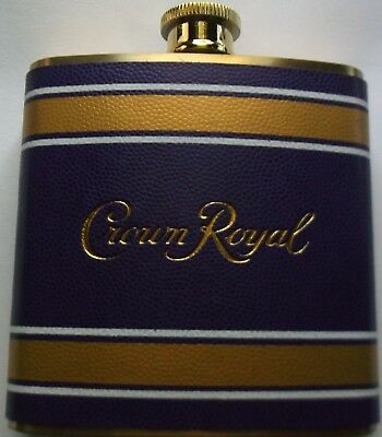 Crown Royal PURPLE & GOLD 6 ounce Flask Brand New Never Used