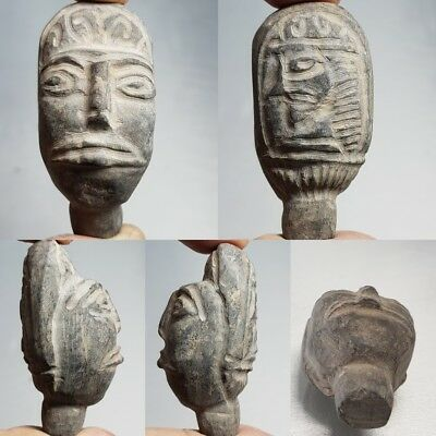 Ancient Rare Old 2 Faces Stunning Stone Head # G1