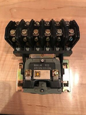 Square D 6 Pole Lighting Contactor Electrically Held LO60 120V Coil