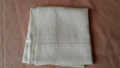 vintage  gentlemans  cream silk handkerchief  20s /30s