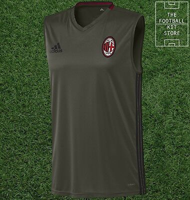 AC Milan Sleeveless Training Shirt - Official adidas Football - All Sizes