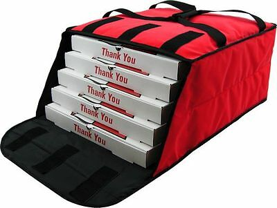 "Pizza Delivery Bags Holds up to Five 16"" or Four 18"" Pizza (Red)."