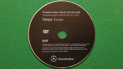 2018 Mercedes-Benz DVD Comand Aps Europe NTG2 A/B/C/CLK/G/GL/M/R-Class