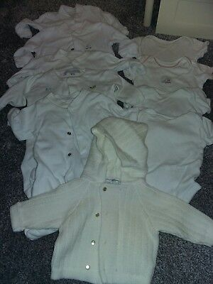 newborn bundle white neutral vests and sleepsuits