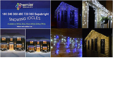 Premier Led Icicle Christmas Lights For Indoors And Outdoor